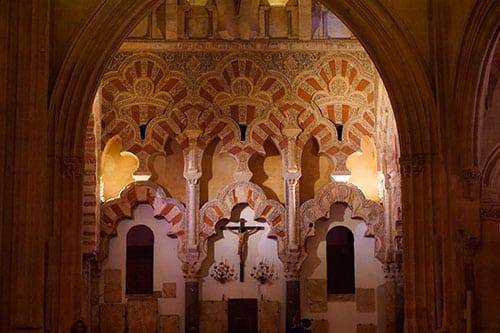 Photographie du christ dans la mosquee cathedrale de Cordoue en Andalousie