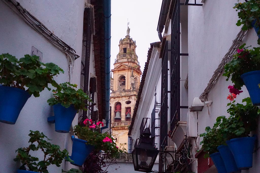 Photographie de la calleja de las flores a Cordoue en Andalousie