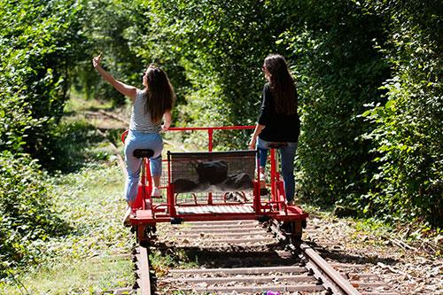 Photographie du velo-rail à Bagnoles de l'Orne