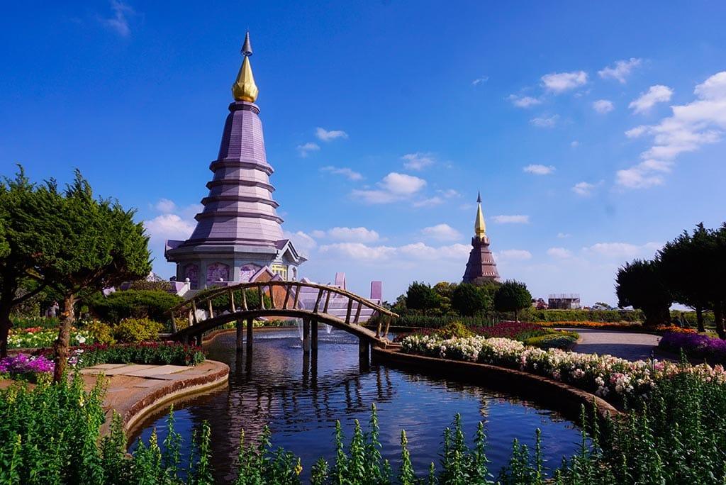 Photographie des pagodes du Doi Inthanon