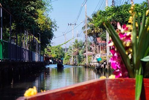 Photographie depuis les Klongs de Bangkok
