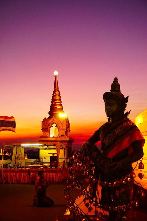 Photographie depuis le Wat Saket à Bangkok