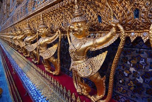 Photographie des détails du Wat Pho à Bangkok