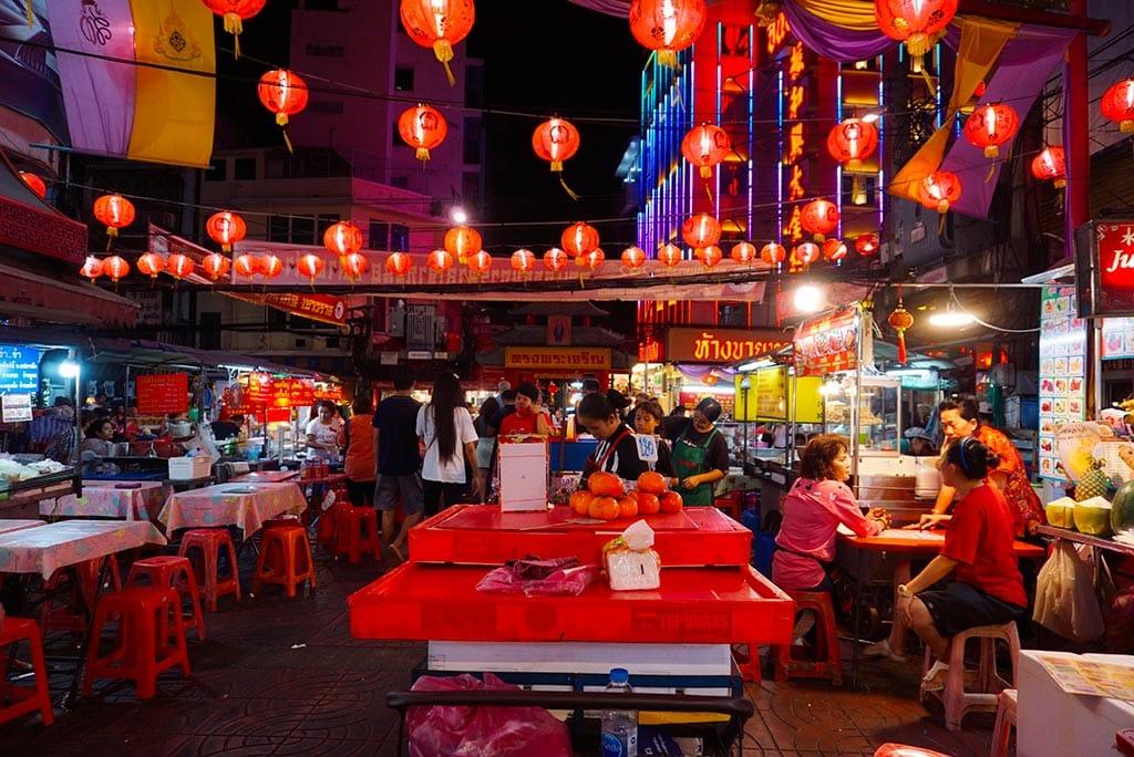 Photographie du quartier chinois à Bangkok