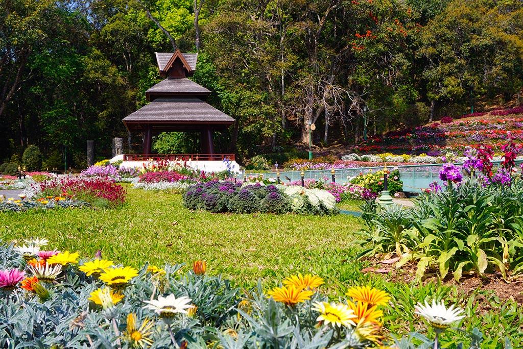 Photographie des jardins du bhubing palace