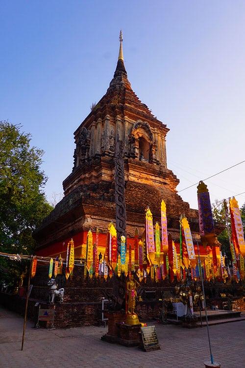 Photographie d'un temple à Chiang Mai