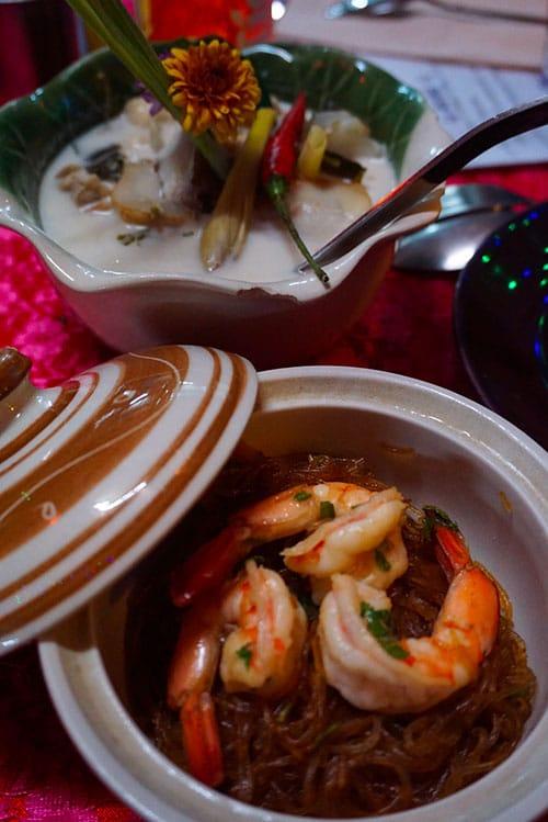 Différents plats réalisés lors d'un cours de cuisine à Chiang Mai