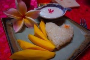 Mango sticky rice, cours de cuisine chiang mai
