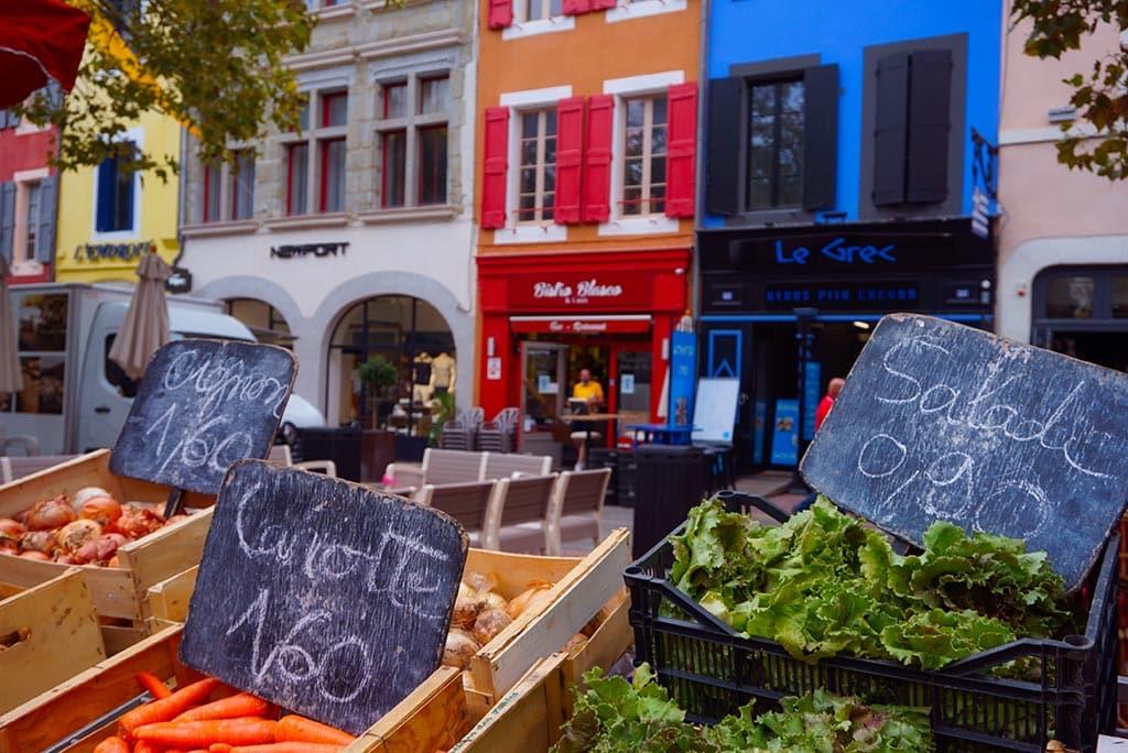 Photographie du marché, Place Carnot à Carcassonne