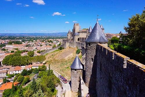 Photographie de la vue depuis la cité médiévale de Carcassonne