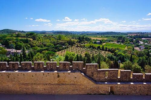 Photographie de la muraille de la cité de Carcassonnes