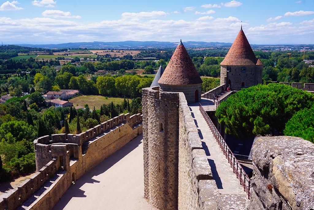 Photographie des remparts de la cité médiévale de Carcassonne
