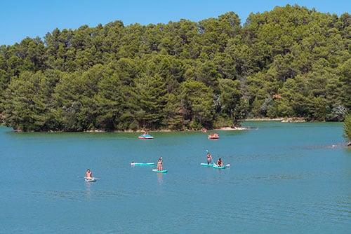 Photographie de Paddles au lac Cavayère