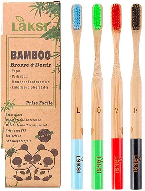 image de brosse à dents en bambou