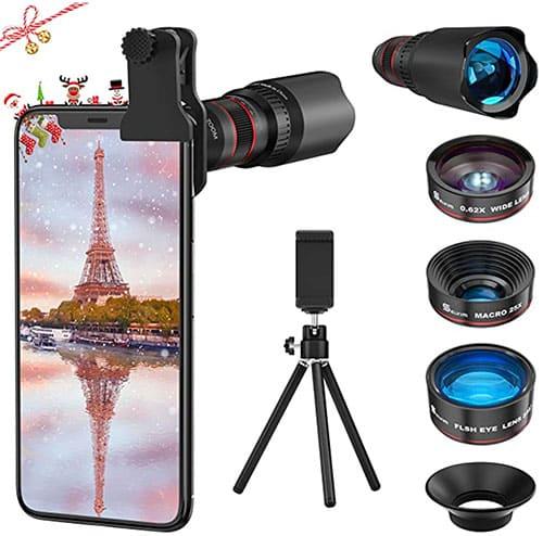 image d'un kit d'objectifs pour smartphone