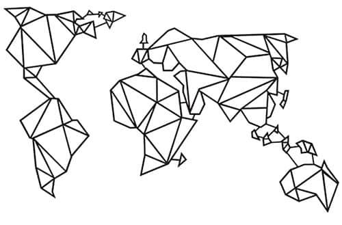 image d'une carte du monde en décoration murale
