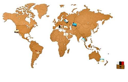image d'une carte du monde en liège