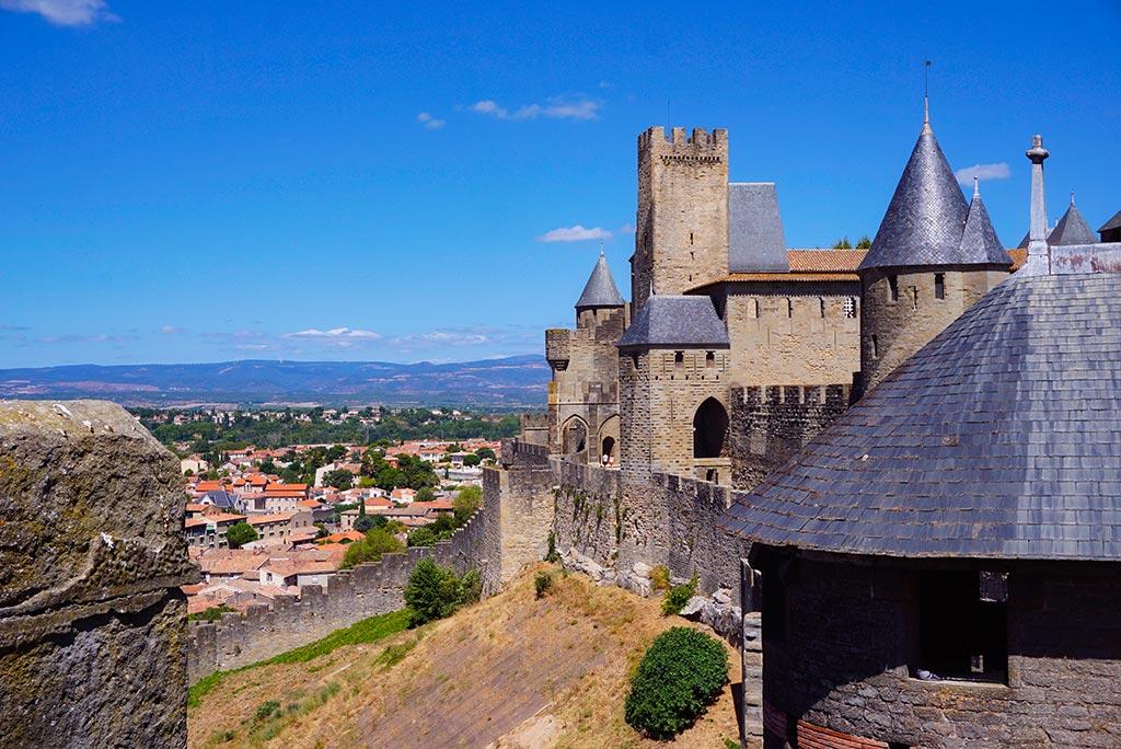 Rempart de la cité de Carcassonne