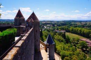 Photographie des remparts de la cité de Carcassonne
