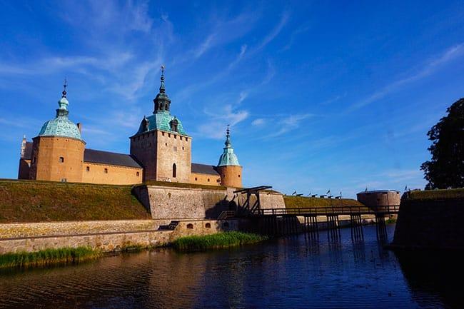Photographie du château de Kalmar en Suède