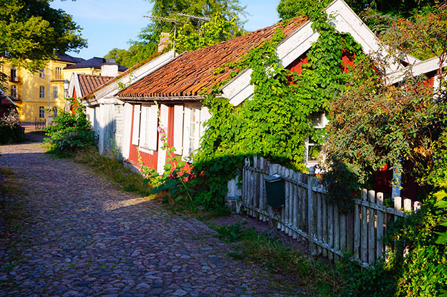 photo d'une maison de la vieille ville de Kalmar