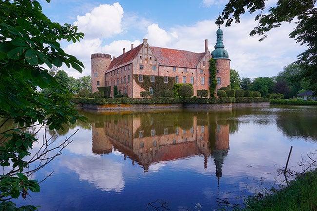 photo du château de Vittskövle dans le sud de la Suède