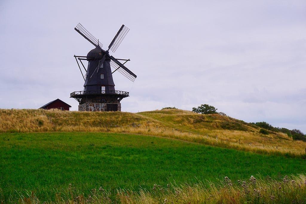 photographie d'un moulin pendant notre road trip en Suède
