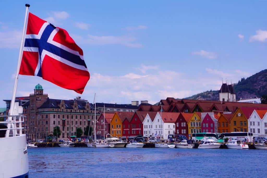 Photo des quais de Bergen en Norvège