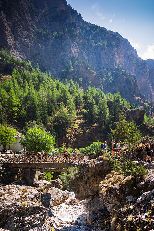 Photographie du pont de Samaria dans les Gorges de Samaria