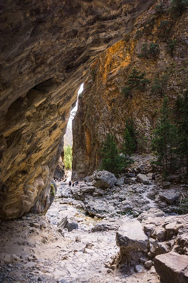 Photographie des falaises des Gorges de Samaria