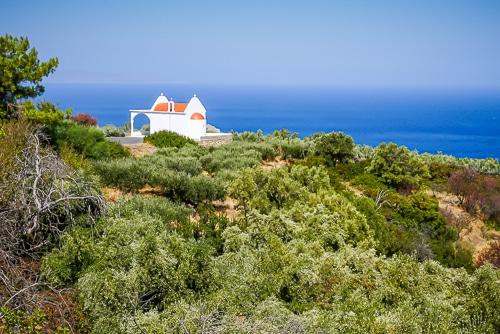 Photographie d'une église en Crète
