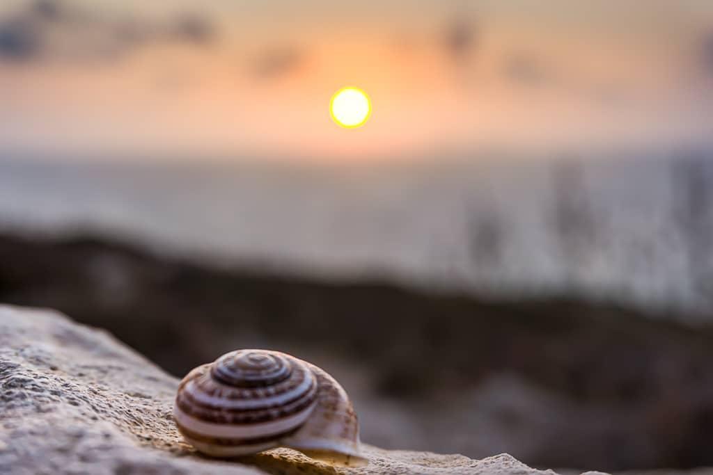 Photographie d'un coucher de soleil à Matala