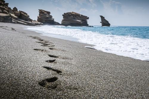 Photographie de la plage de Triopetra en Crète