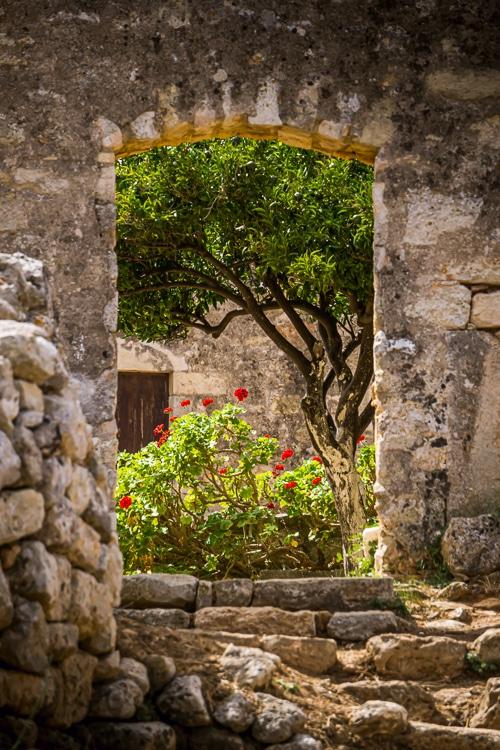 Photographie d'un site archéoloogique en Crète