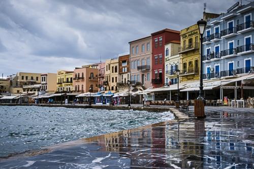 Photohraphie de la vieille ville de La Canée