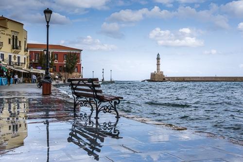 Photographie du port de la Canée