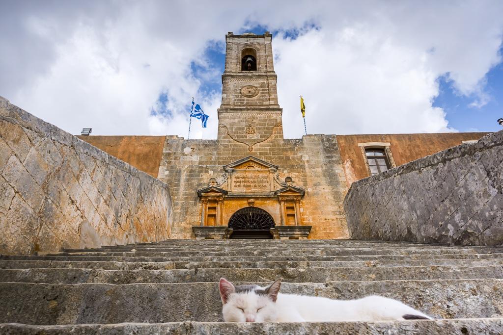 Photographie du Monastère d'Agia Triada en Crète