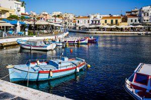 Photographie du lac d'Agios Nikolaos