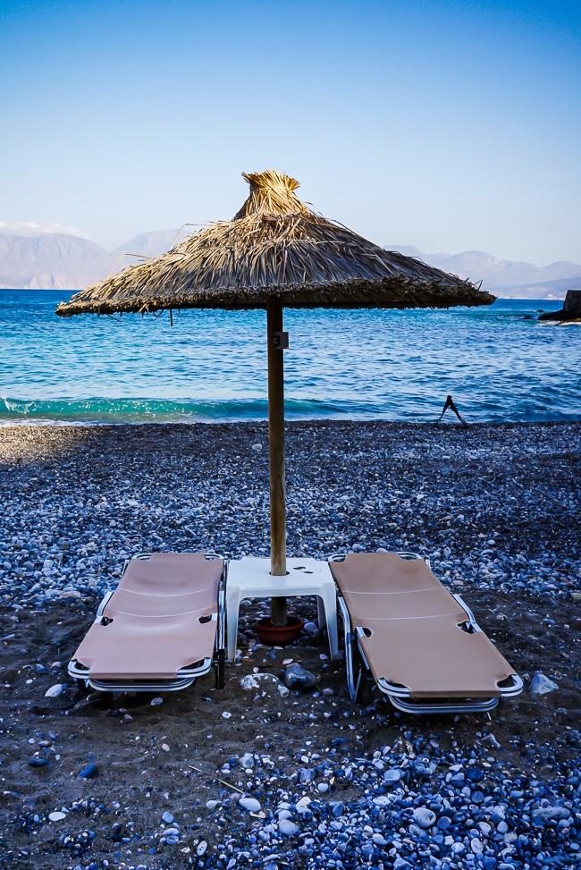 Photographie de la plage d'Agios Nikolaos