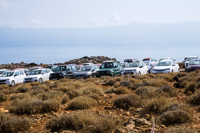 Photographie du parking de Balos Beach