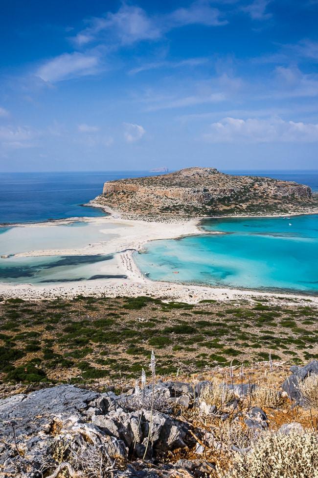 Photographie du lagon de Balos vue depuis le sentier