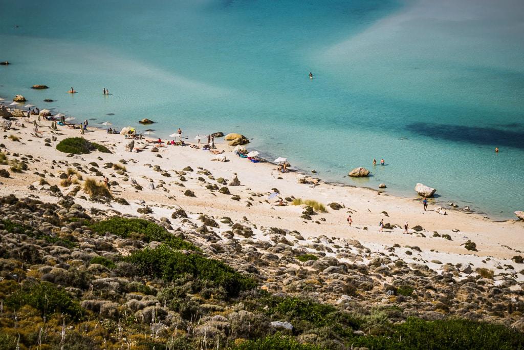 Photographie de la plage de Balos en Crète