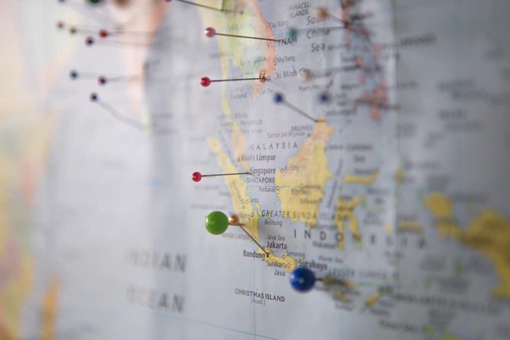 Image d'illustration d'une carte pour la planification d'un voyage