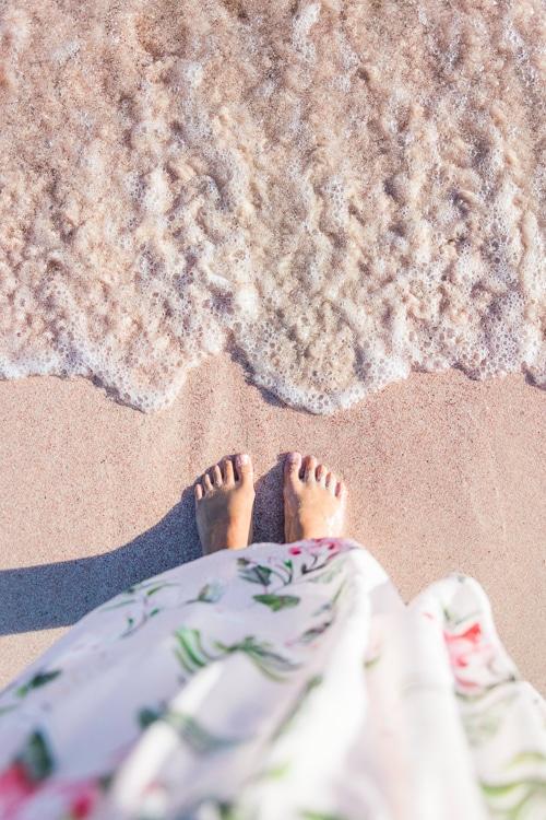 Photographie de sable rose à Elafonisi