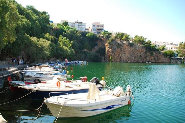 Photographie des bateaux du port d'Agios Nikolaos