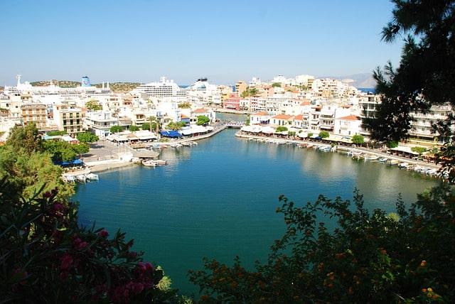Photographie vue du haut du lac d'Agios NIkolaos