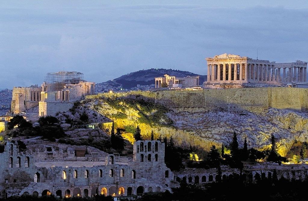 Photographie de l'acropole d'Athène