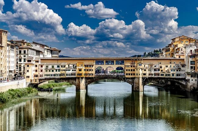 Photographie du ponte vecchio de Florence