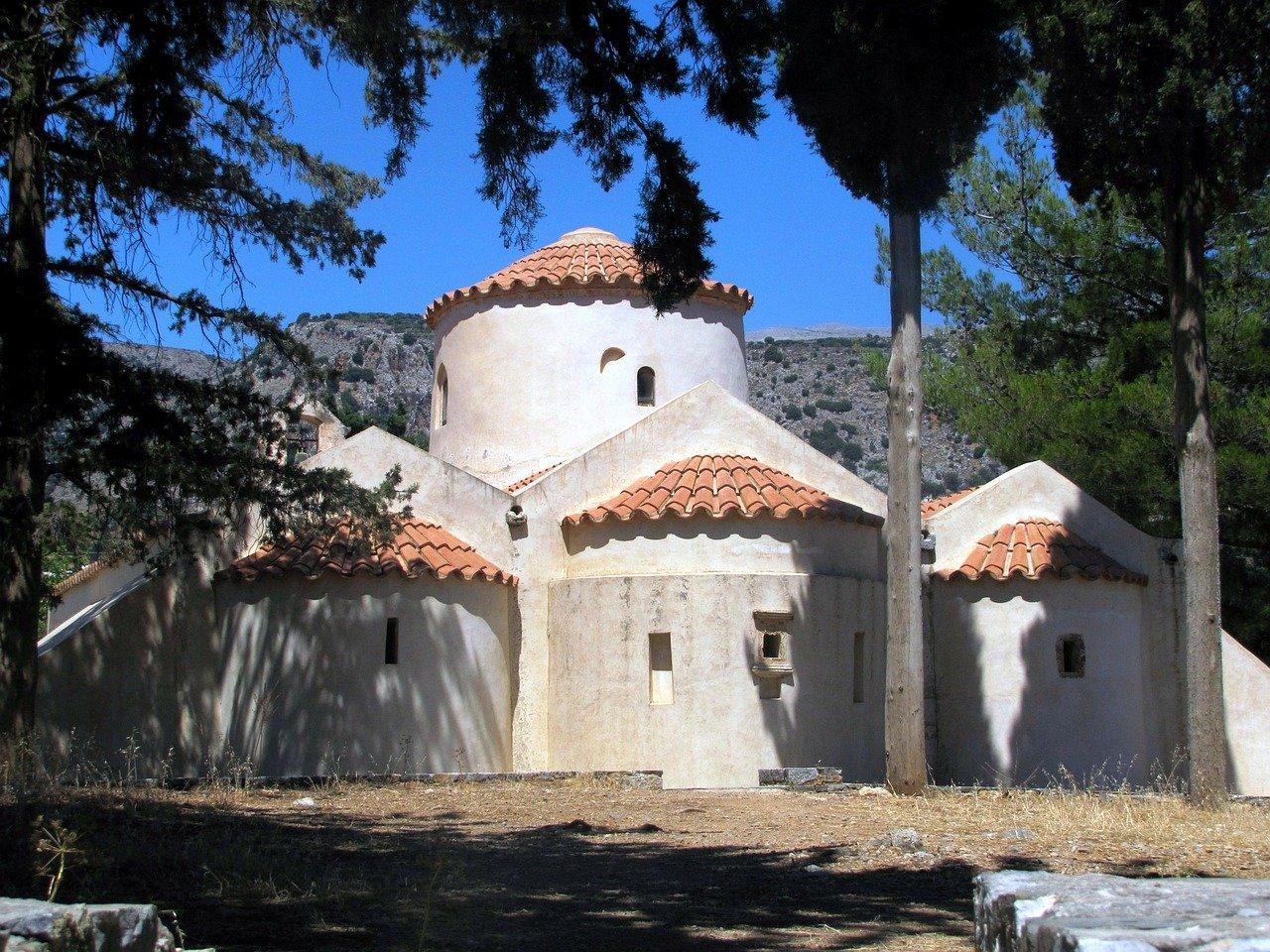 Photographie de l'église de Panagia Kera en Crète
