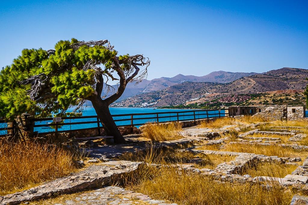 Photographie des ruines présentes sur l'île de Spinalonga